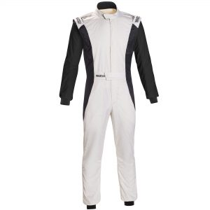 Sparco Competition Race Suit - White-Black