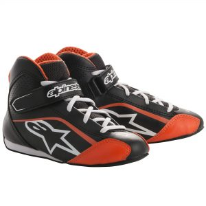 ALPS TECH 1-KS KIDS BOOTS BLK/WH/FLURO ORANGE