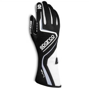 Sparco Lap Race Gloves - White-Black Front