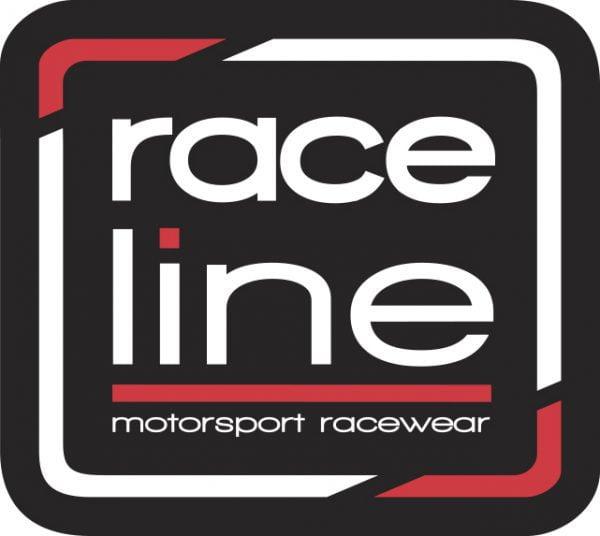 Raceline Square Sticker - Black
