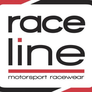 Raceline Square Sticker - White