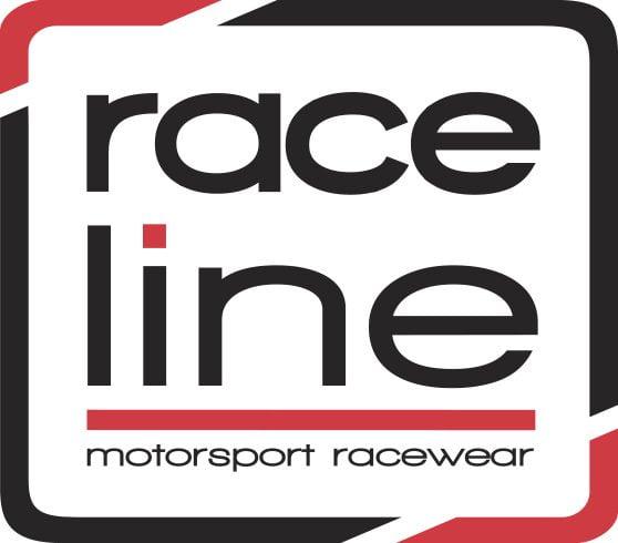 Raceline Square Sticker - White