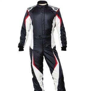 OMP Technica Evo Race Suit - Black-White