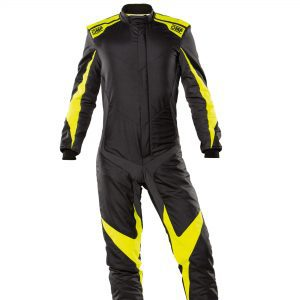 OMP One Evo X Race Suit - Black-Yellow