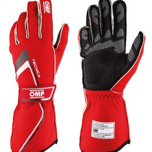 OMP 2021 FIA Technica Gloves - Red