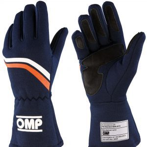 OMP 2021 FIA Dijon Gloves - Blue