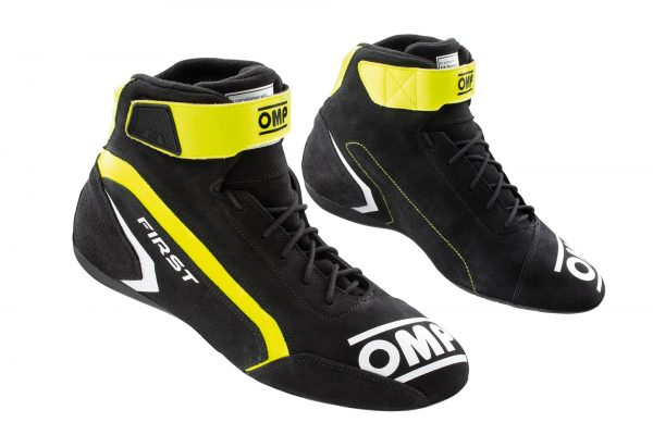 OMP First Race Shoe - Anthracite-Yellow