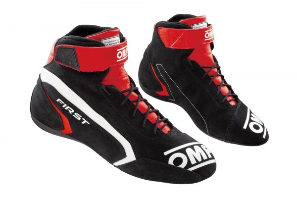 OMP First Race Shoe - Black-Red