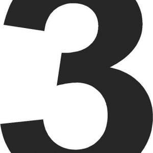 black door numbers