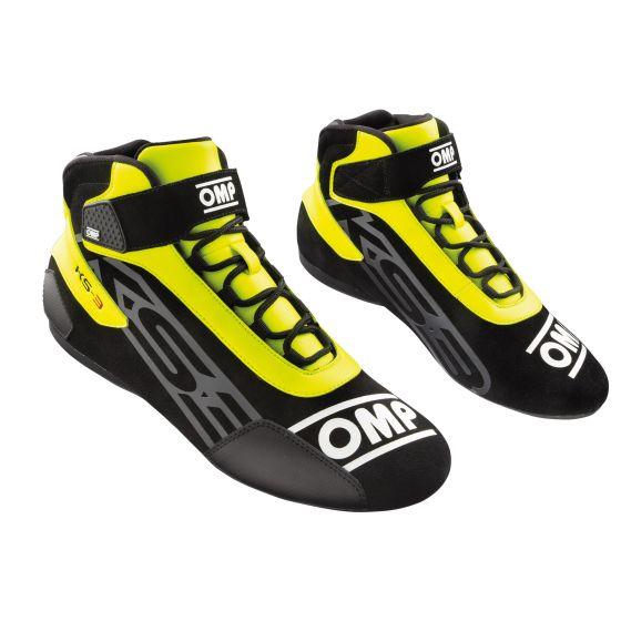 KS3 shoes black yellow