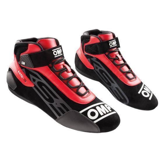 ks3 shoes black red