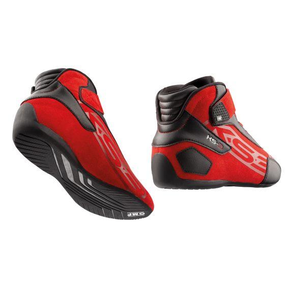 KS3 shoes red back